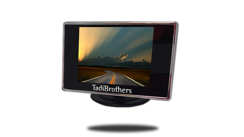 4.3 inch monitor Frontal view
