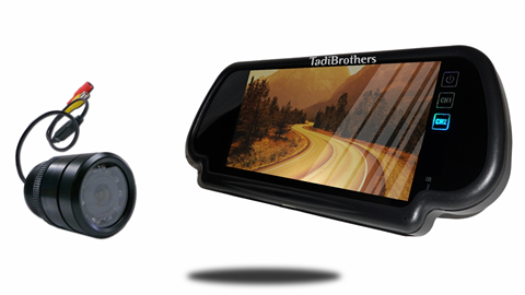 5-Inch Mirror monitor with 120° Bumper Backup Camera