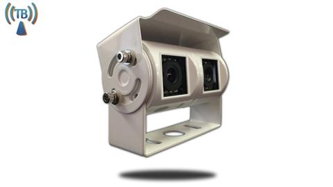 Wireless Double lens 120° White RV Backup Camera (Birds Eye View) | SKU52316124