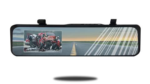 Ultra thin rearview mirror monitor   HD Dash Camera   SKU56919