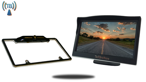 5 inch Monitor with Wireless 120 degree CCD Black License Plate Frame Backup Camera Great for Cars or Suvs!