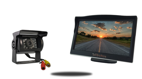 5 inch color monitor with rv backup camera