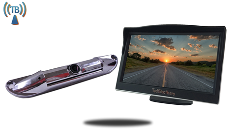5 inch Monitor with Wireless CCD Steel License Plate Backup Camera Great for Pick Up Trucks, SUV's, Hooking up a trailer to your hitch ball