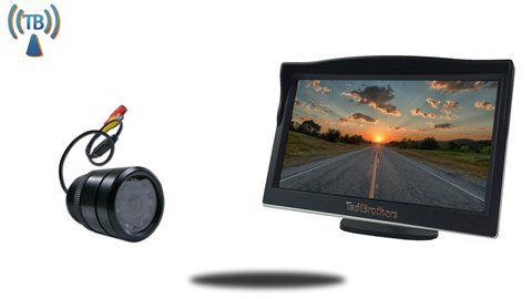 5 inch Monitor and a Wireless 150° Bumper Backup Camera Great for RV's, Trucks, and Cars!
