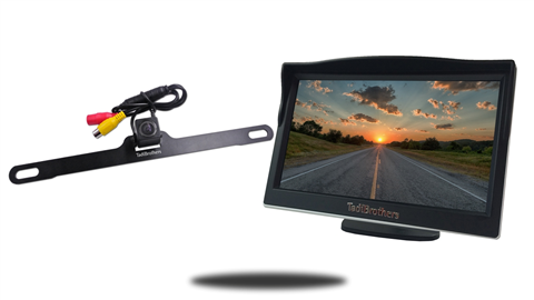 5 inch lcd monitor with wired concealed license plate camera