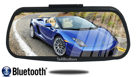 7'' Mirror with flip up panel for easy touch screen access