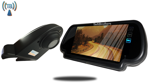 Wireless ccd Overhang Roof backup camera with 7