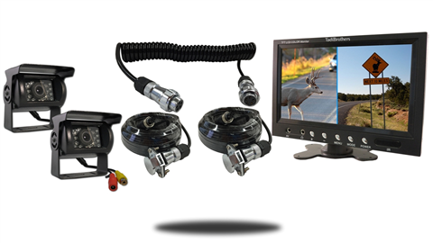 2 120 degree wired rv backup cameras with 7