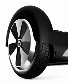 Rubber Coated Wheel Well for Self Balancing Scooter