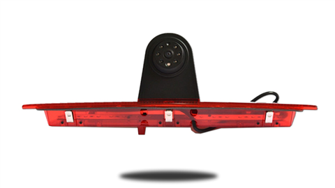 The Ford Transit backup camera is designed to replace the existing brake light housing with an integrated CCD backup camera.