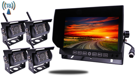 4 Built In Wireless trailer RV Backup Cameras | 9 Inch Monitor with SKU-90138