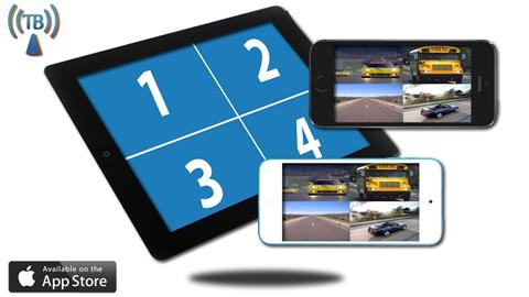 iPhone Split Screen Backup Camera (iOS) works with iPad, iPad mini, iPod | SKU11560