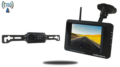 Built In Wireless license plate backup System SKU-76595