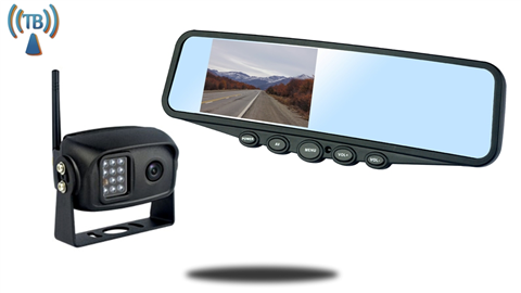 4.3-Inch Clip On Mirror Monitor with Built In Digital Wireless car Backup Camera system SKU-99158