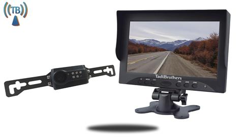 Digital Wireless License Plate Backup Camera | 5 Inch Monitor SKU-76596
