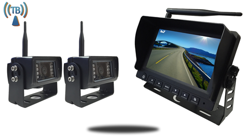 7 Inch Monitor with 2 Built In Wireless backup 5th wheel Cameras SKU-90137