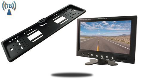 Wireless European License Plate Backup Camera | 7-Inch Monitor with CCD | SKU-10063 TadiBrothers