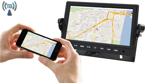 7 inch Rear view monitor For ios and android devices with wifi mirroring SKU-18690