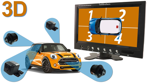 3D 360 Degree View car camera system with DVR | SKU-46856