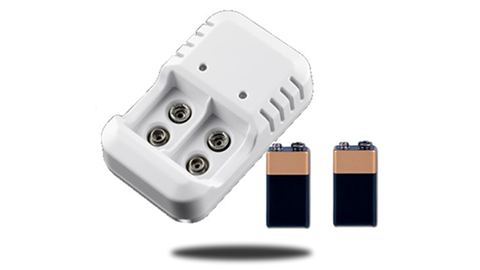 2 Rechargeable 9V Batteries and wall Charger | SKU98653