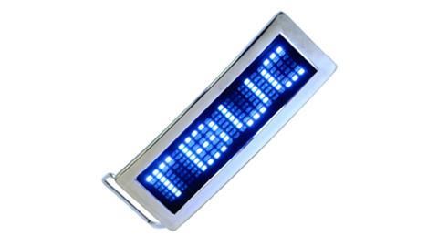 Blue LED Belt Buckle