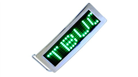 Green LED Belt Buckle