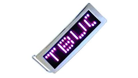 Pink LED Belt Buckle