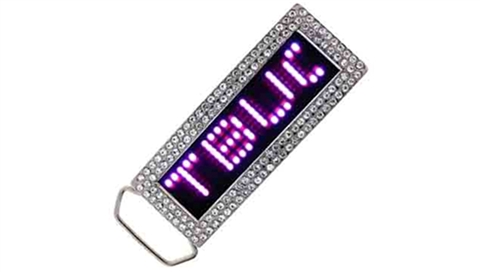 Pink LED Belt Buckle