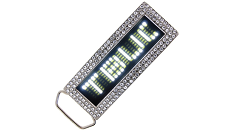 White LED Belt Buckle