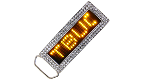 Yellow LED Belt Buckle