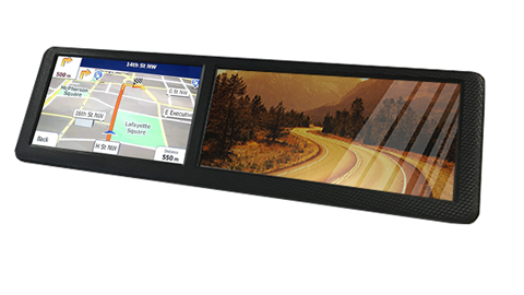 2 in 1 Clip on Mirror Monitor and a GPS