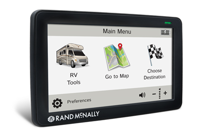 Rand McNally GPS navigation with optional Backup Camera