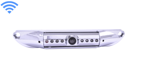 120° Degree Silver License Plate Car Camera (Hi-Res Wireless CCD) | SKU93098