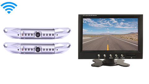 7-Inch Monitor | 2 Wireless License Plate Backup Cameras Great for Trucks, and Hooking up a trailer to your hitch!