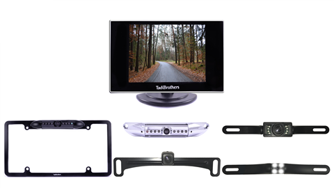 Smaller monitor with license plate camera