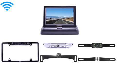 Wireless License Plate Reverse Camera & Pop up Monitor