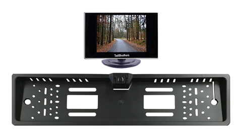 European License Plate Backup Camera HD | 3.5-Inch Monitor | SKU-46301 TadiBrothers