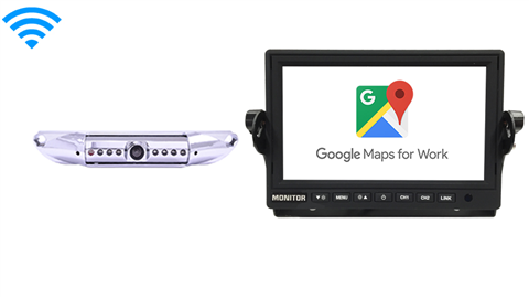 WiFi Monitor with Wireless License Plate Camera | Stream Android and IOS | SKU-96758