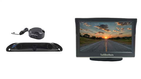 Backup Camera System with Built-in parking Sensors and 5 Inch Monitor