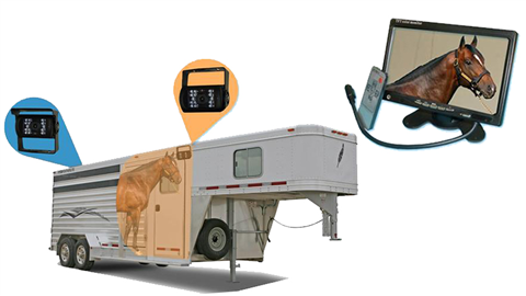 Horse Trailer 7 inch Monitor and two RV Backup Cameras | SKU25564