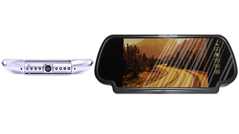 7 Inch Mirror with Wireless CCD Steel License Plate Backup Camera, Great for Cars and Pick up Trucks!