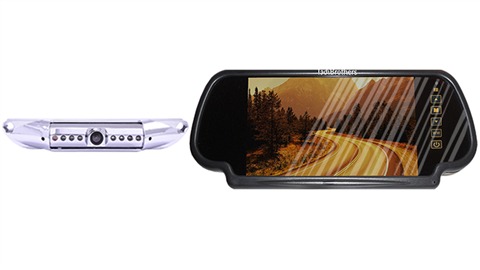 Rear view Mirror with License Plate Backup Camera for cars