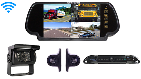 Aftermarket Wireless 4 cams Backup Camera System | Trailers