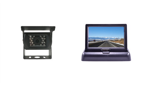 Smaller pop up monitor with backup RV camera