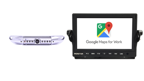 7 Inch WiFi Monitor with Wired License Plate Camera | Stream Android and IOS | SKU-52585