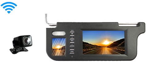 7 Inch Visor Monitor with Wireless 120° Backup Camera Great for Sedans and SUV's!