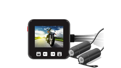 Motorcycle dash cam 2 channel DVR System