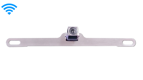 120° Concealed Silver License Plate Camera (Hi-Res Wireless CCD) | SKU93099