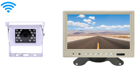 White color wireless backup camera system