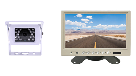 White RV Backup Camera and a White Monitor | SKU19119